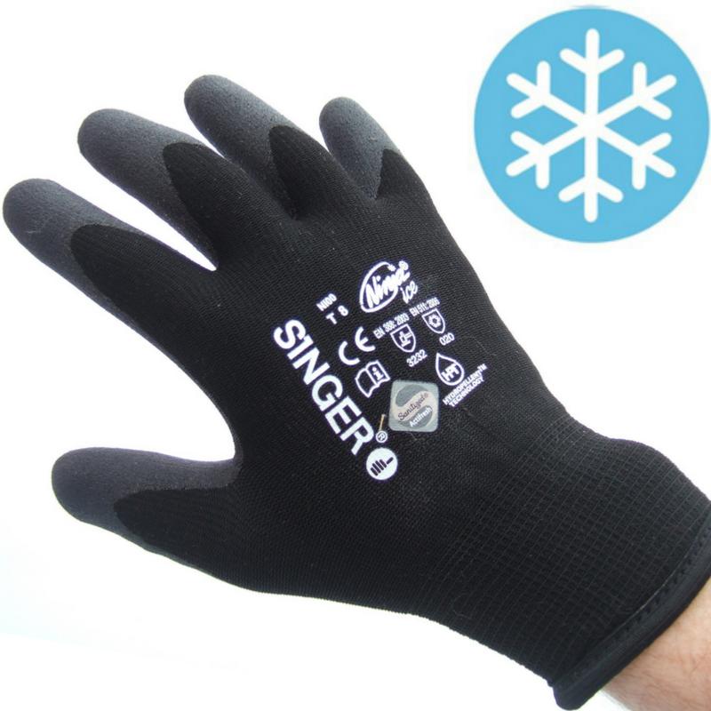 gants de travail contre le froid dext rit taille 10. Black Bedroom Furniture Sets. Home Design Ideas