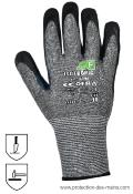 Gants anti coupure niveau F enduction Nitrile (la paire)